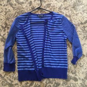 Cable & Gauge Blue 3/4 Sleeve Cardigan